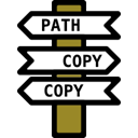 path-copy-copy icon